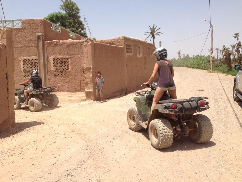 Activité Quad Safari dans la palmeraie de Marrakech